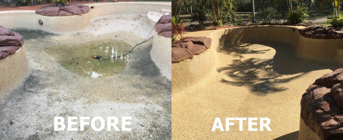 Swimming Pool - Before, After