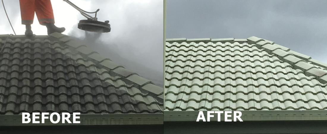 Roof 2 - Before, After