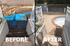 flooding pool 3 before after