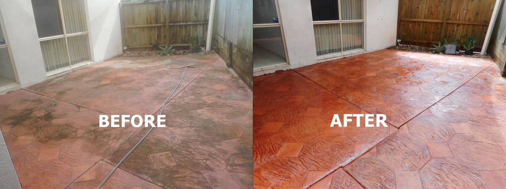 outdoor paving before after